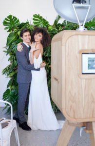 Hallmark wedding photo booth